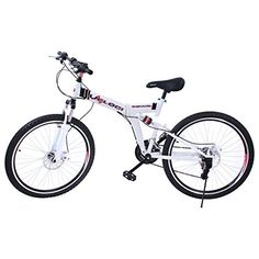 Adult Folding Bikes - VEVOR 250LB Carbon Steel Suspension Folding Mountain Bike26Inch >>> More info could be found at the image url.