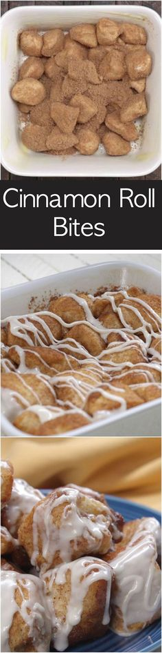 Easy Cinnamon Roll Bites made with Pillsbury Biscuits. Preps in minutes and tast… Easy Cinnamon Roll Bites made with Pillsbury Biscuits. Preps in minutes and tastes better than the cinnamon bites you get in the Mall. 13 Desserts, Delicious Desserts, Dessert Recipes, Yummy Food, Cinnamon Desserts, Dessert Ideas, Weight Watcher Desserts, Pillsbury Recipes, Baking Recipes