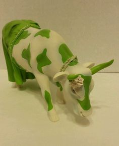 CowParade Figurine 2002 Clean Jean The Green Holstein Cow Parade Houston Texas | eBay
