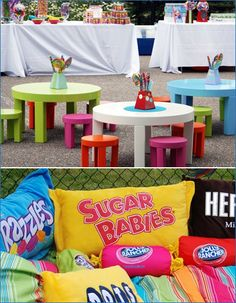 Fabulous party decorations for a Candyland birthday party. #Candyland #birthday #party #decorations