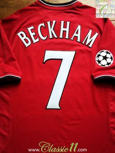 Relive David Beckham's 2000/2001 Champions League with this Vintage Nike Man Utd home football shirt.