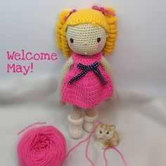 Meet Isla! She's coming to your way with lots of love from me to say have a great month! #crochet#crochetdoll#amigurumi #amigurumidoll #isabellekessedjian #mycrochetdoll #handmade #ganchillo #toys #presents #knitting #crossstitching