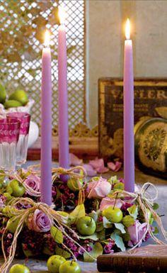 Lav en anderledes adventskrans med æbler og roser!