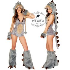 DINOSAUR COSTUME HALLOWEEN CARNIVAL CHRISTMAS COSPLAY COSTUMES FOR WOMEN LADIES FANCY DRESS PARTY ROLEPLAY