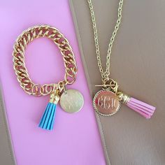 Southern Curls & Pearls: tassel bracelet and necklace