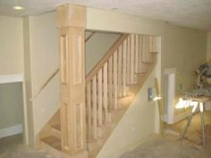 open up stairwell on load bearing wall into basement