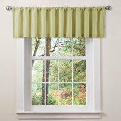 Triangle Home Fashions 18948 Lush Decor Luis Valance, Celery by Triangle Home Fashions. $23.99. Care; dry clean. Valance: 84-inch w by 18-inch d. Includes: 1 valance. Available in Ivory, Brown, Red, Celery, Taupe. Woven fabric. 18-inch by 84-inch Valance. Rod pocket slides onto curtain rod for installation.. Save 48%!