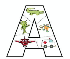 This week for preschool, Kaleb worked on the letter A - A is for Airplane. I wanted to create something that he could use to review his lett...