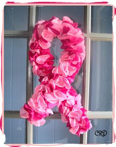 Breast Cancer Awareness Wreath for my Mom. <3
