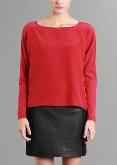 Seidenshirt LANIUS Onlineshop H/W 14 Sustainable Fashion by Claudia Lanius