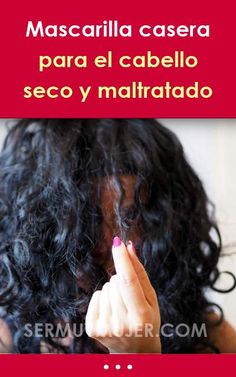 Mascarilla casera para el cabello seco y maltratado #mascarilla #mascarillacapilar #mascarillacasera #cabello #pelo #cabelloseco #cabellomaltratado #cabellodañado Curly, Hair Treatments, Tips, Videos, Frases, Homemade Face Pack, Hair Masks Homemade, Split Ends, Hair Care