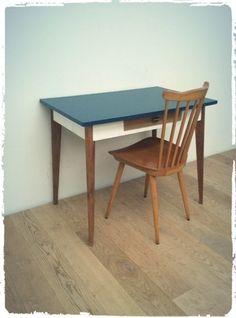 Table Bureau Vintage Pieds Compas Revisité