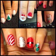 Christmas nail art.  By me! Njk