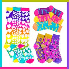 Get zany with our customers' faves! We have novelty socks and mismatched socks to add plenty of creativity and personality to any outfit! Shop favorite styles and patterns. Funky Socks, Colorful Socks, Outfit Shop, Novelty Socks, Girls Socks, No Show Socks, Tween Girls, Personality, Creativity