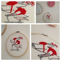 olivia embroidery Show And Tell, My Design, Embroidery, Crafts, Needlework, Needlepoint, Crafting, Diy Crafts, Craft