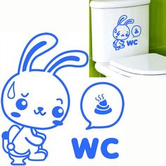 Wc etiqueta tapa de inodoro conejo del closestool extraíble decoración asiento