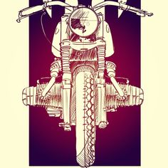 Jeremy Lacy | DownShift Studio | BMW R80/7 Sketch