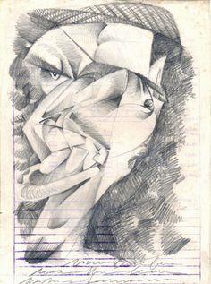 Retrato cubista do meu amigo Olavo Tenório.