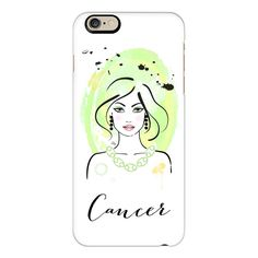 CANCER Zodiac Horoscope Sign - iPhone 6s Case,iPhone 6 Case,iPhone 6s... ($40) ❤ liked on Polyvore featuring accessories, tech accessories, iphone case, iphone cases, slim iphone case, apple iphone cases, iphone cover case and clear iphone cases