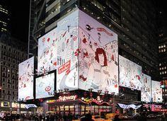 タイムズスクエアのショーン·ホワイトターゲット看板