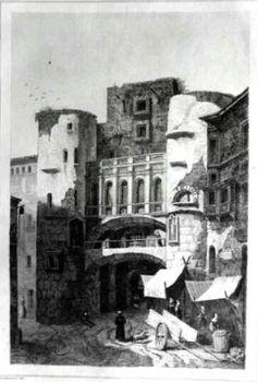 Antiga Porta de Barcelona a la plaça Nova. 1844