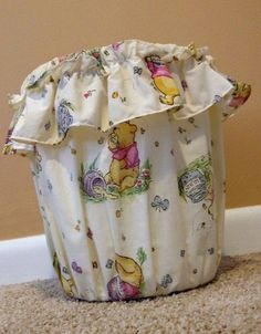 Winnie the Pooh HUNNY POT Nursery Trash Can & Cover Disney Classic Honey Pots ~ SOLD!