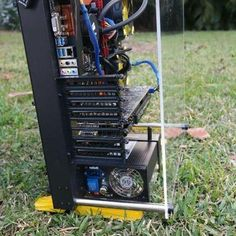 Check this rig from @joseph_bonie. It's in the garden cos it's a beast right.  Here's the specs: Nvidia Gtx 1060 6GB with a @intel i5 6600k 8gb of ram ASrock z170 pro4 motherboard 1 TB hard drive 60GB SSD 600W power supply.  Remember to feature: DM your pix use #buildagamingPC