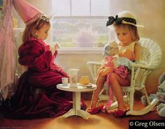 Afternoon tea princess (love the fur cot and velvet -- will source for louis xvi chairs and real porcelain