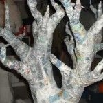 Forming Branches... papier mache tree
