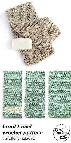 Crochet hand towel pattern. Crochet guest towel or kitchen towel.