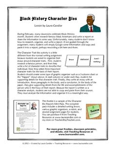 During February, many classrooms celebrate Black History month. Students often research famous Black Americans and write a report or share the info...