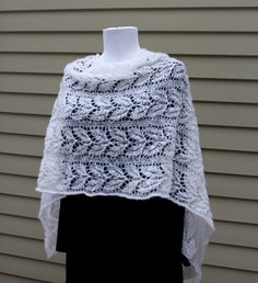 All Knitted Lace: February Entry: Estonian Shawl Challenge, Small Willow Leaf Pattern