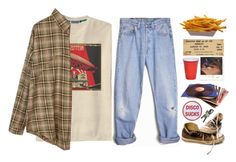 """Ken Miller"" by washedupandburnedout ❤ liked on Polyvore featuring Retrò, Converse and Levi's"