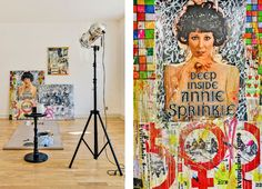 A closeup on Annie Sprinkle in the livingroom. The artist is Jeppe Bjornberg from Copenhagen.