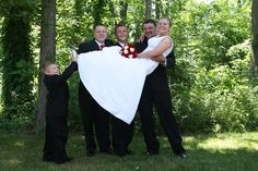 With the groomsmen