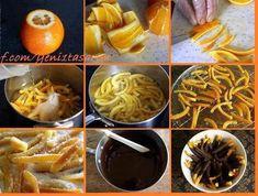 Kandiseret appelsinskal, mums!