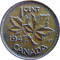 """In 1947 some pennies have a small maple leaf after the date, signifying these coins were actually struck in 1948. This happened when there was a pressing demand in early 1948 for coins of all denominations, yet the mint was still waiting on the revised dies for 1948. Thus, it was decided to modify the 1947 die with the small maple leaf, to allow coins to be produced.""     THERE WAS A TIME WHEN WE COULDN'T WAIT FOR MORE PENNIES!"