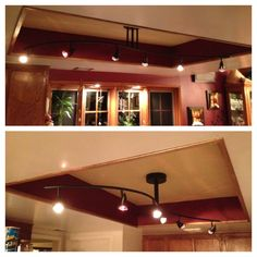 Convert that ugly recessed fluorescent ceiling lighting in your kitchen lighting took out the fluorescent lights and plastic cover replaced it with this workwithnaturefo