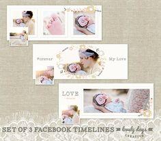 Facebook Timeline Cover templates Set of by LovelyDaysCreative, $14.00