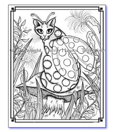 """Envelopes  /""""Anime Coloring/"""" Set of 6 KITTY/'S NOTE CARDS"""