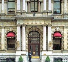 My favourite hotel in the world:  Hotel Le St-James, 355 rue Saint Jacques, Montreal, QC, Canada