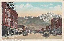 Twenty-Fifth Street 25th Hotel Trolley Ogden Vintage Utah Postcard Weber County