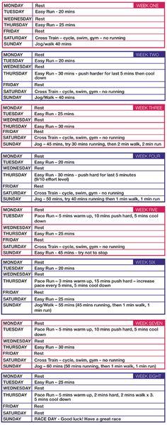 10km run training plan