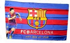 BEAUTIFUL Official Licensed GENUINE 3'x5' Messi Barcelona FC Flag W/ Messi Signature Print - Licensed FC Barcelona Merchandise by FC Barcelona. $24.99. Licesned FC Barcelona Merchandise. 3'x5' (90cm x 150cm). IMPORTANT CHRISTMAS SHIPPING NOTICE!! - if ordered AFTER Dec. 5th, we CANNOT guarantee arrival by Christmas Eve (although the closer it is to the 5th, chances are it will arrive) - Reason is that US postal mail Volume is extremely heavy, which may prolong the delivery.. Mad...