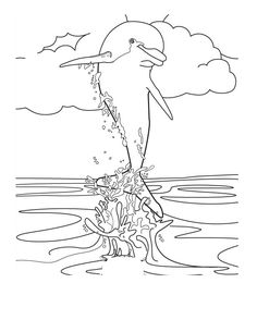 Free Printable Dolphin Coloring Pages | Free printables, Free ...