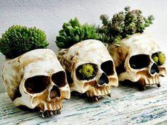 DIY Flower Skull Decor