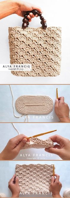 crochet handbags This openwork bilateral shell stitch crochet handbag features a gorgeous texture that you are sure to love. It takes bit of patience to crochet it up especially for s Crochet Diy, Crochet Tote, Chunky Crochet, Crochet Handbags, Crochet Purses, Love Crochet, Free Crochet Bag, Crochet Shell Stitch, Crochet Gratis