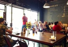 Double Roasters Cafe has breathed life into a 1950s warehouse. Inside the cafe is a wave of activity: the espresso machine is purring away, with the barista furiously pumping out hot coffee; 199 Victoria Rd, Marrickville