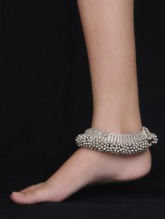 Bold Ghungroo Silver Anklet - Set of 2
