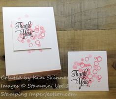 Create A Quick Card With Playful Backgrounds | Stamping Imperfection